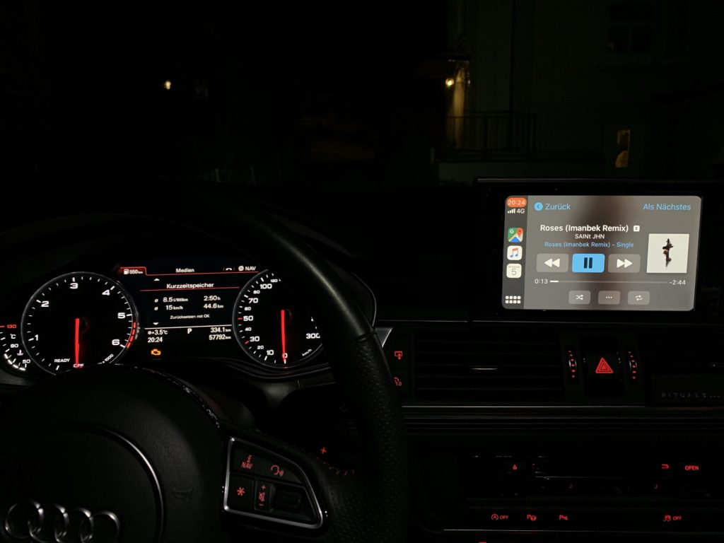 Apple CarPlay im Audi A6 C7 2015